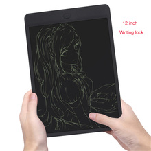 Wholesale Black 12inch LCD Writing Digital Tablets Handwriting Graphic Pads Portable Electronic Tablet Memo Notepad Message Drawing Board