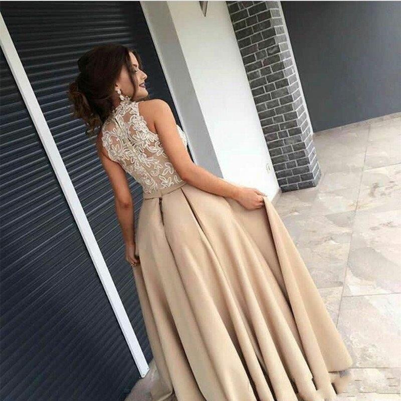 Kaftan Same Sirène 2018 Satin Dentelle Nouvelles Haut Formelle Arabe Islamique Arabie Robes Robe 2019 Champagne Dubai Longue Pic Col Musulman As reCxQdBoW