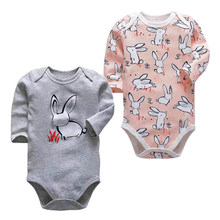Newborn Body suit Baby Boys Babies Girls Clothes Roupa Bebe 3 6 9 12 18 24 Months Infant Coveralls Jumpsuit(China)