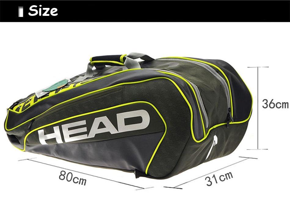Head Brand Tennis Bag Novak Djokovic Signature Tennis Racket Bag Large Capacity 6 9 Tennis Racquets Tennis Racket Backpack Tenis Buy At The Price Of 49 58 In Aliexpress Com Imall Com