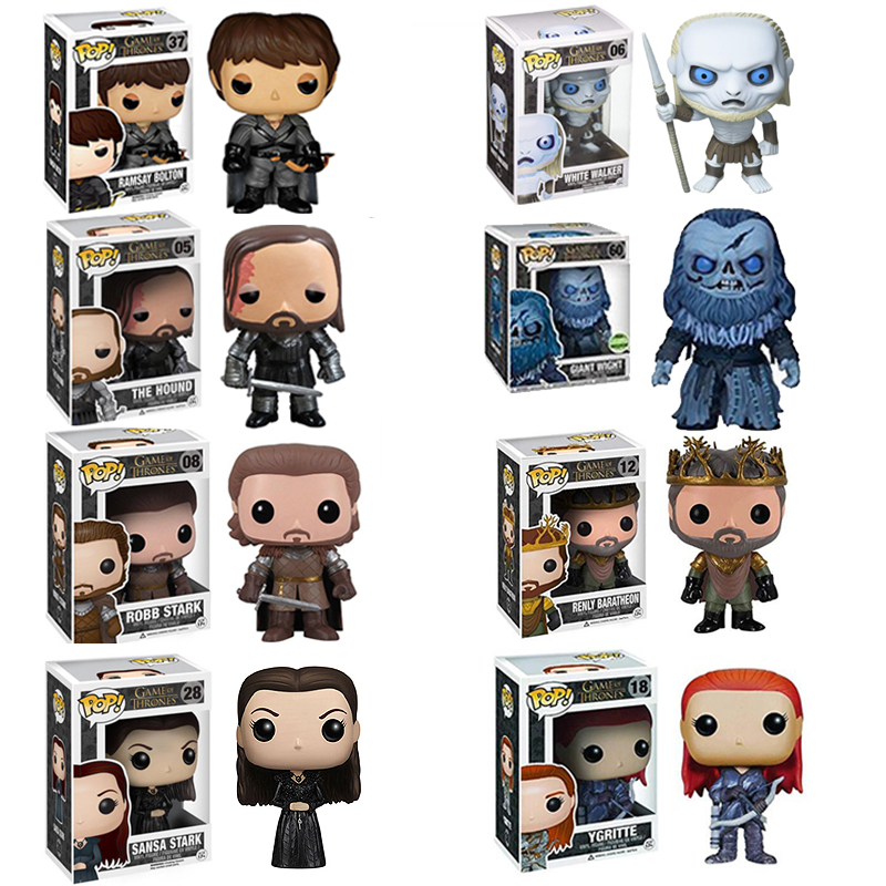 FUNKO Pop Game Of Thrones JON SNOW STARK YGRITTE Model Figure Collectible Model Toy For Kids Birthday Gift