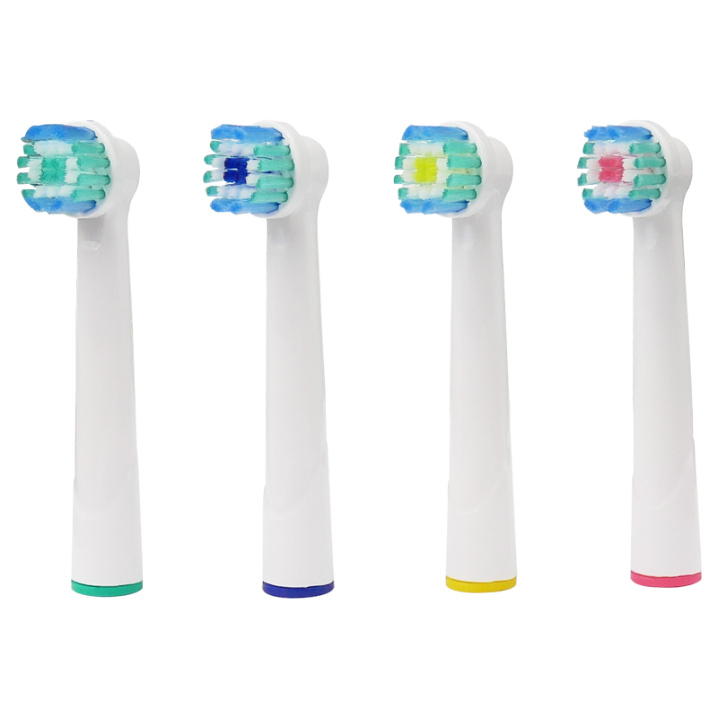 4pcs Oral B Electric Toothbrush Replacement Heads Model Battery Soft Tooth Bristles for Dual Clean Complete Brush Head image