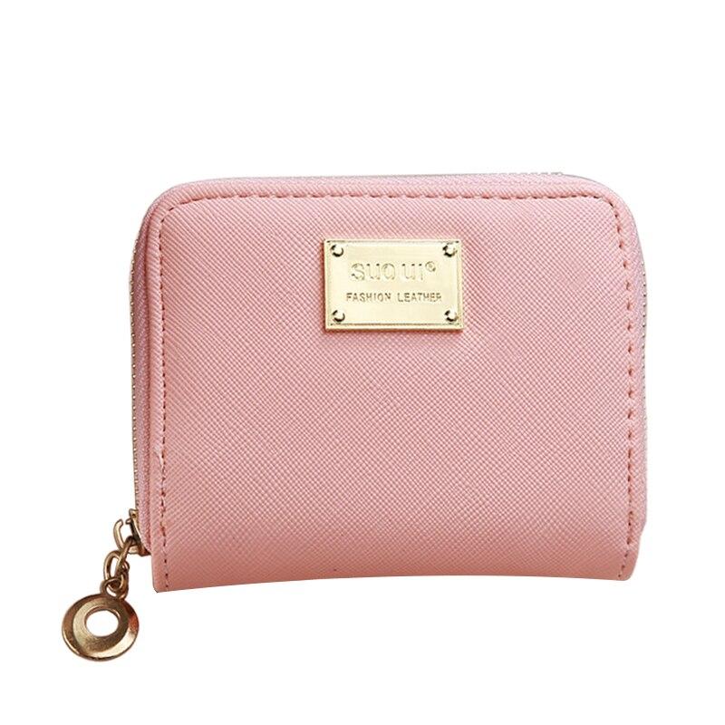 Fashion Short Wallets Women PU Leather Ladies Wallet Zipper Design Small Female Purse short Coin Card Holder