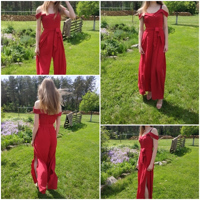 HTB1 teLaMaH3KVjSZFpq6zhKpXaj - Simplee Sexy off shoulder women jumpsuit romper Elegant high waist red jumpsuit long Summer wide leg lady playsuit overalls