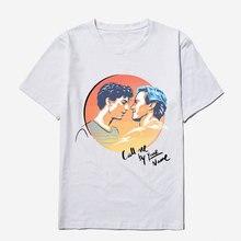 4842cf76055 Call Me By Your Name White T Shirt Men Cotton High Quality Casual Movie Mens  Tee Shirts Fashion T-shirts Men Funny T Shirt 3XL