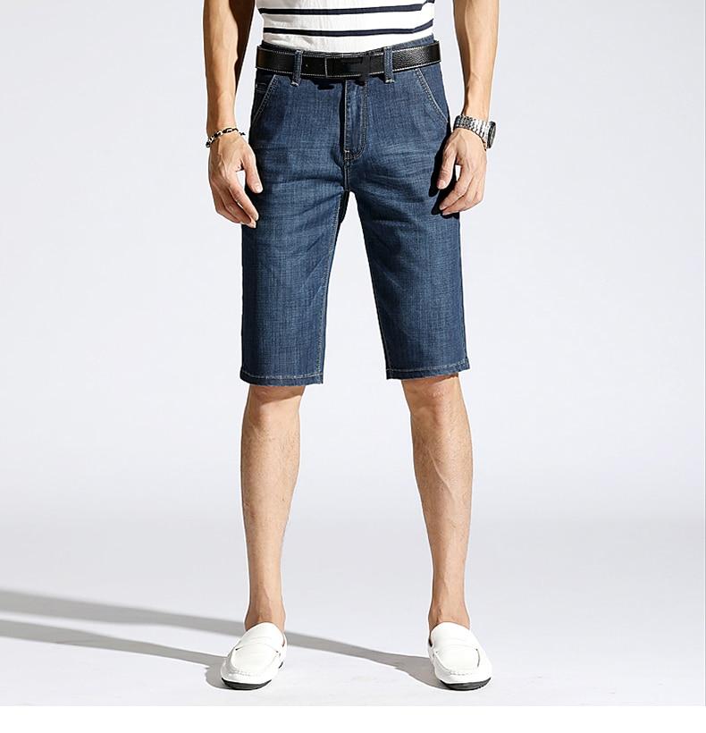 KSTUN Denim Shorts Men Jeans Ultrathin Slim Straight Black Blue Short Jeans Male Brand Clothing Businessman Shorts Jeans Homme 13