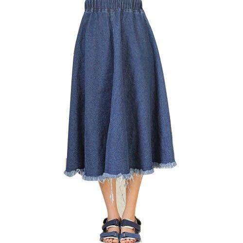 Aliexpress.com : Buy Fashion Women Pleated long jean skirts women ...