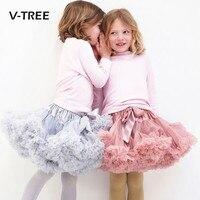 V-TREE Girls tutu skirt 0-10 Years Chiffon Pettiskirt Solid Colors tutu skirts girl Dance Skirt Christmas Tulle ballet Petticoat