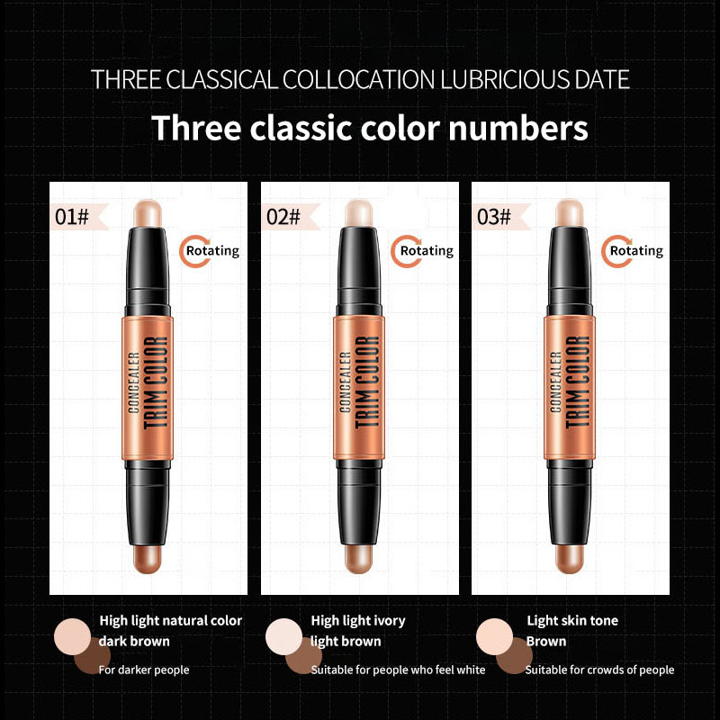 BIOAQUA Double Head Bronzer Highlighter Contour Face Makeup Concealer Pen Foundation Stick Convenient fast in Bronzers Highlighters from Beauty Health