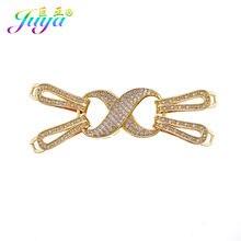 Juya – fermoirs connecteur Infinity pour fabrication de bijoux, accessoires de luxe en pierre naturelle, fabrication de bijoux