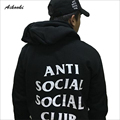 Anti Social Social Club YEEZY ASSC hoodies Mens cotton black gray White Brand 4XL 2016 Long Sleeve Hoodies and Sweatshirts Men