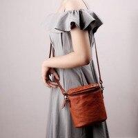 XIYUAN 2019 lady Cowhide black/brown/Chocolate color Bucket crossbody bags messenger bag women shoulder bag for woman 2018