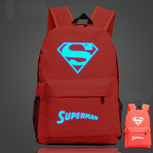 Luminous Superman School Bag