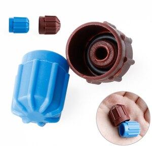 Image 2 - Автомобильная крышка клапана переменного тока A/C, 2 шт., клапанный клапан холодильного агента, Hi/Lo напряжение R134a, защитная крышка от пыли, крышка