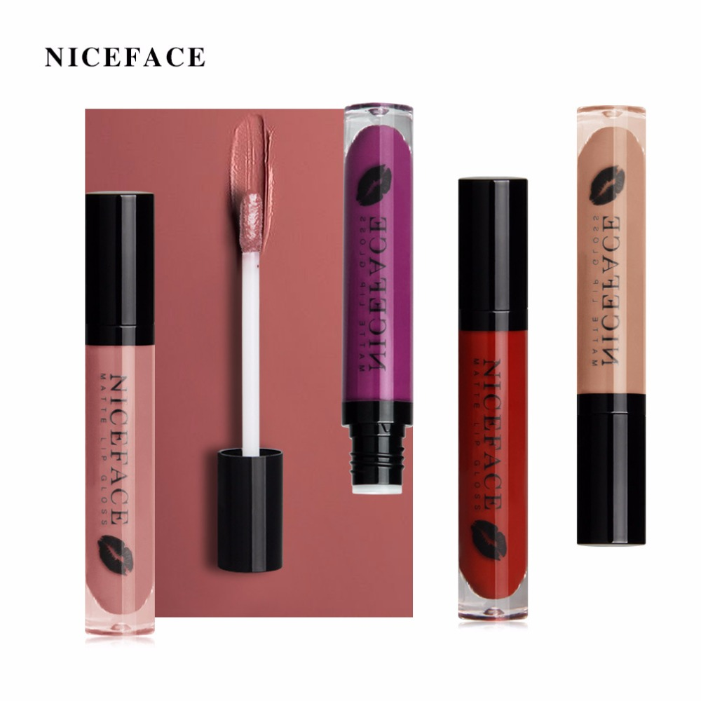 Pudaier Brand Velvet Matte Nude Liquid Lipstick Cosmetics