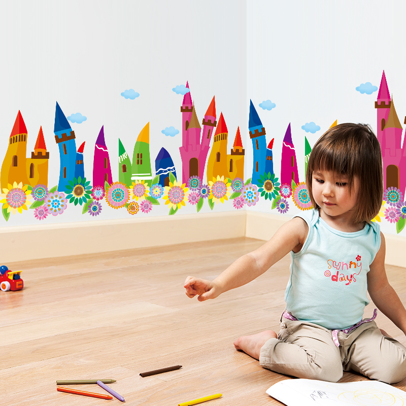 Colorful Rooms For Toddlers: Aliexpress.com : Buy [SHIJUEHEZI] Colorful Pencils Houses