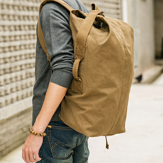 Hot Sale High Quality Promotion Fashion Designer Vintage Canvas Big Size Men Travel Bags Large Capacity Luggage Backpacks DB26