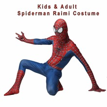 купить Adult Kids Spider Man 3 Raimi Spiderman Cosplay Costume 3D Print Spandex Zentai Superhero Bodysuit Suit Jumpsuits по цене 1019.95 рублей