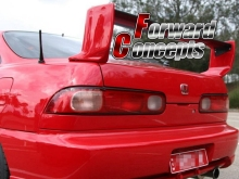 CARBON FIBER BLADE  94-01 INTEGRA TYPE-R DC2 3-PCS REAR WING TRUNK SPOILER