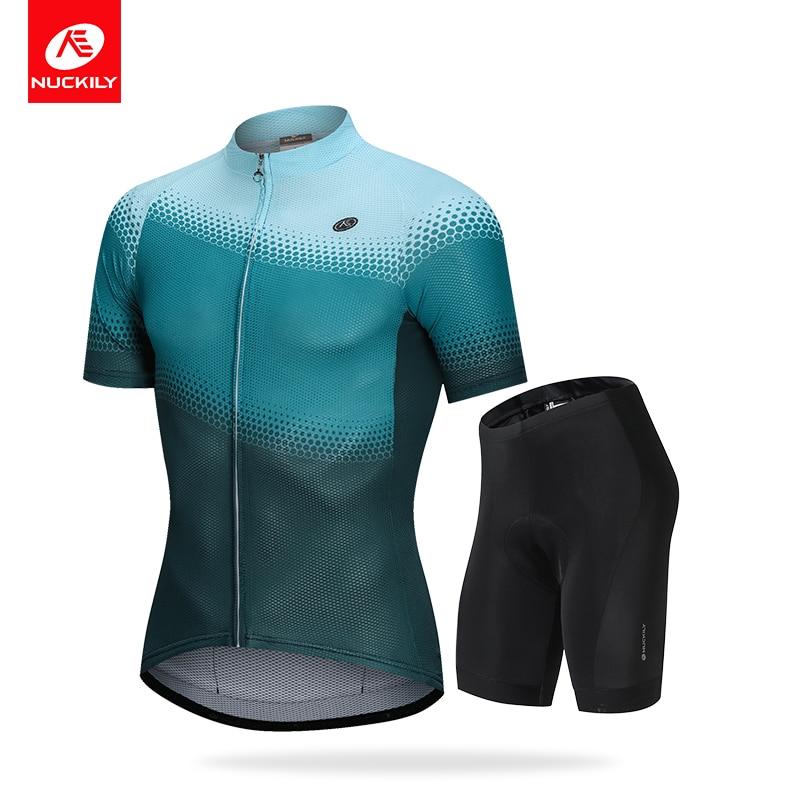 NUCKILY Men s Jersey Summer Set Gel Pad Lycra Shorts with Coolmax Breathing Sport MTB MG031MK007
