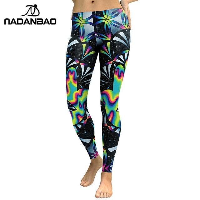 fc6db58097ac60 NADANBAO New Design Leggings Women Galaxy Space Digital Print Plus Size  Legging Fitness Leggins Slim Elastic Workout Pant Legins
