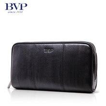 BVP – Brand High-end Business Stylish Zipper Closure Men Clutch Bags Long Wallets Casual Daily Cellphone Holder Purse J40