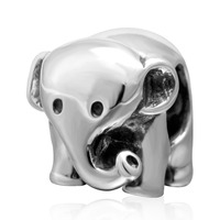 Lucky Elephant Charms Bracelets Original 925 Sterling Silver DIY Jewelry Beads Free Shipping
