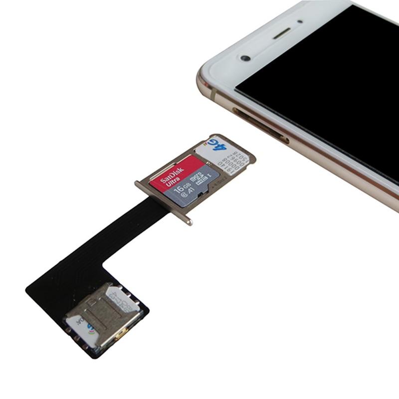 1Pcs Black Dual SIM SIM Adapter for Android TWO 2 Nano SIM NANO-SD Memory Card Converter For XIAOMI REDMI NOTE 3 4 3s(China)