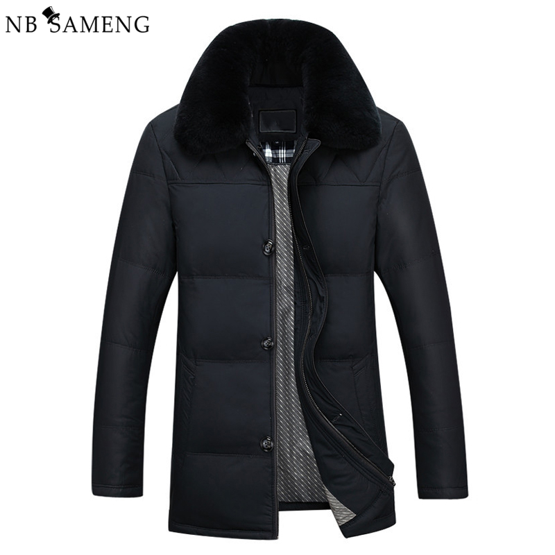 2018 Men Winter Duck Down Coat Parka New Fashion Mens Casual Stand Collar Warm Solid Thicken Coats Jackets 13M0409