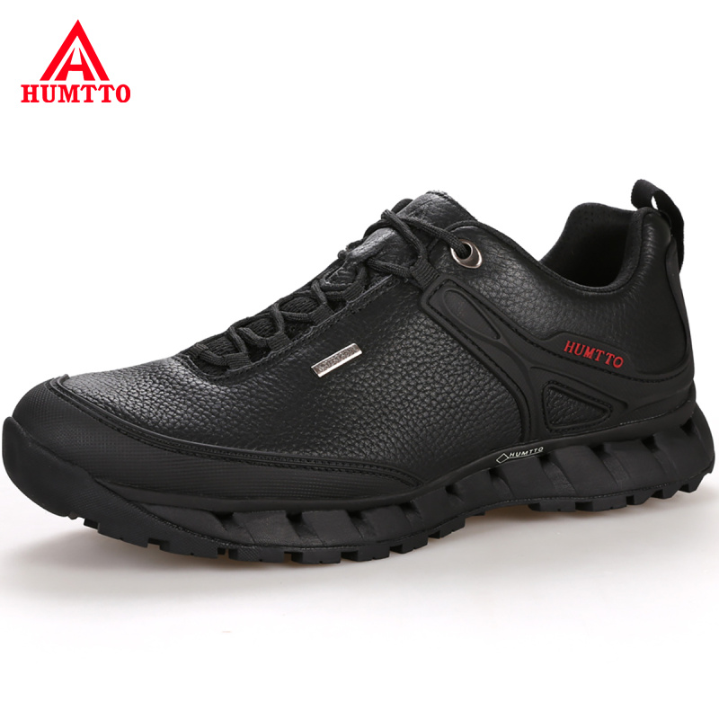 Professional Waterproof Trekking Mountain Shoes Outdoor Hunting Tourism Hiking Shoes Genuine Leather Climbing Men Sneakers