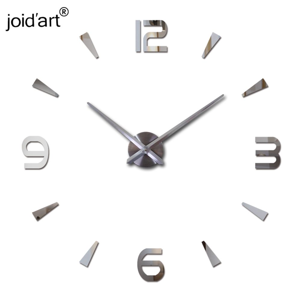 2019 New Diy Wall Clock Acrylic diy Clocks Quartz Watch Reloj De Pared Living Room Modern 3d Mirror Stickers Horloge Home Klok