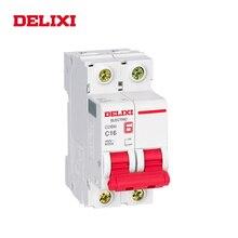 DELIXI CDB6i Американская классификация проводов 2р Мини автомат защити цепи 230/400V AC 1A 2A 3A 6A 10A 16A 20A 25A 32A 40A 50A 63A 50 Гц/60 Гц кривая C тип MCB