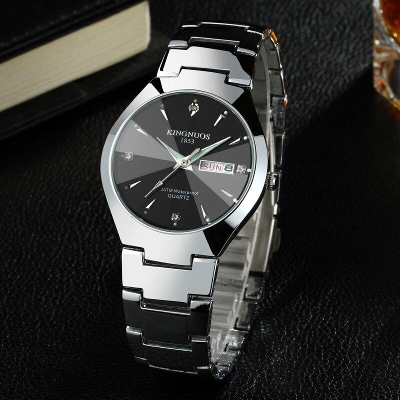 358dbc5f3fe Relógios de Quartzo aço inoxidável relógio de pulso Bateria   Continued  Work Two Years