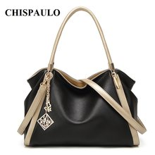 CHISPAULO Brands Leather Bags For Women Crossbody Crystal Clutch Evening Bags school bags for girls Women Messenger Bags T580(China)