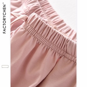 Image 5 - Hồng Hạc Tay Ngắn + Quần Short Nhà Phù Hợp Với Vị Trí 100% Cotton Pyjama Bộ Mùa Hè Ban Đêm Dành Nữ Pijama Quần Áo Mặc Ở Nhà