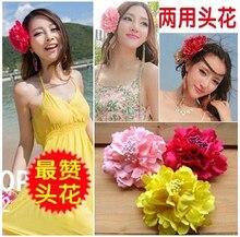 Новый богемия стиль пион цветы заколки заколки для женщин аксессуары для волос для пляжа 8 цвета могут быть выбранные