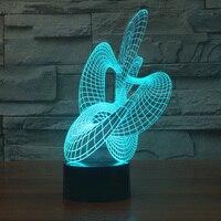Colorido luz da noite levou Acrílico 3D ilusão visual Do Feriado lâmpada Humor Lâmpada dispositivo elétrico de iluminação Da Lâmpada para o quarto sala de estar deco