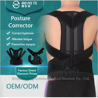 Adjustable Male Female Belt Posture Corrector Therapy Posture Orthopedic Shoulder Pain Lumbar Corset Back Brace Belt Straps