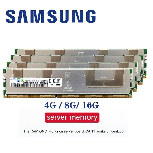Samsung Серверная память 4 ГБ 8 ГБ оперативной памяти, 16 Гб встроенной памяти, DDR3 PC3 1066 МГц 1333 МГц 1600 МГц 1866 МГц 8 г 16 г 10600R 12800R 14900R ECC REG 1600 1866 Оператив...