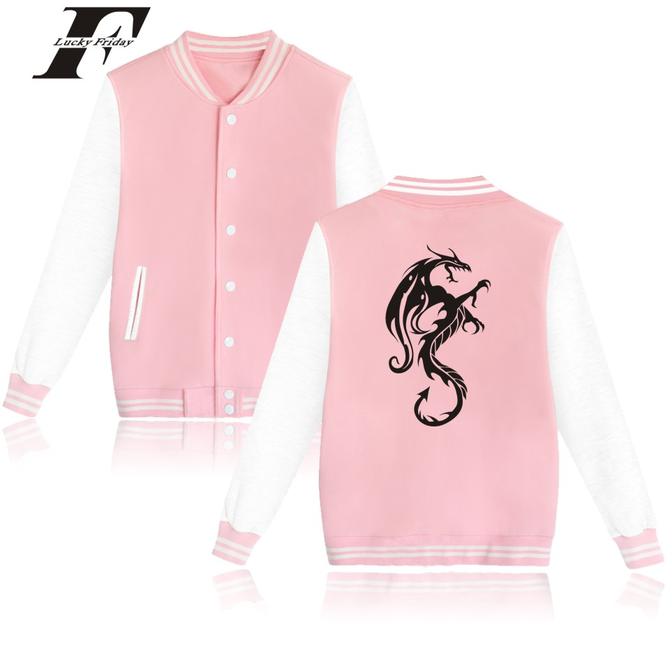 Angry Dragon Baseball Jacket Autumn Warm Cotton Female Fashion Winter Jacket Women Plus Size Casual Street Wear