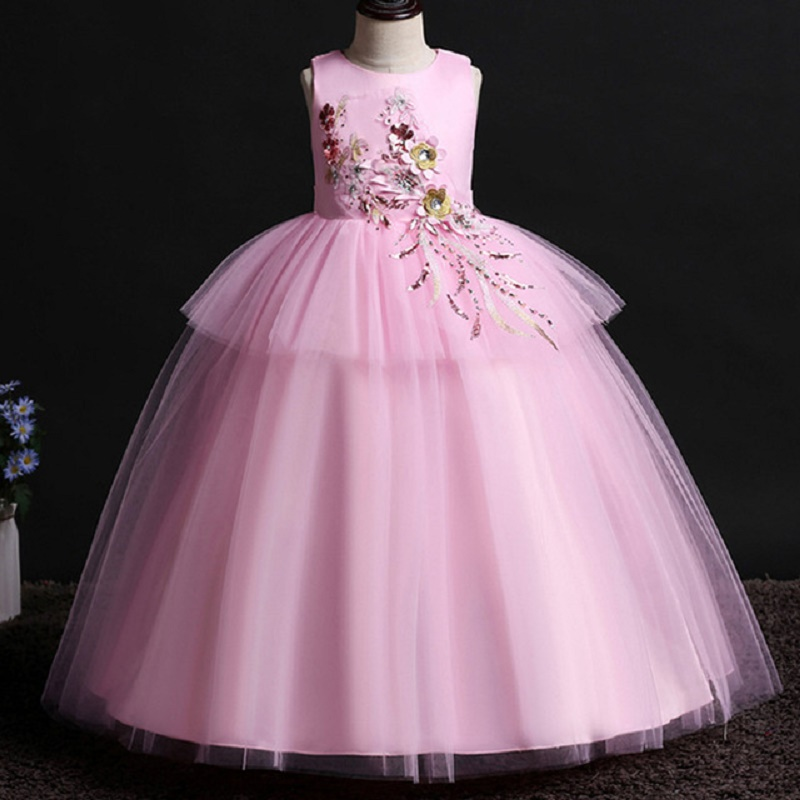 Kids Dresses For Girls Summer Dress Elegant Princess MOANA Girls Dress Party Wedding Dresses Vestido 4 5 6 7 8 10 11 12 14 Years in Dresses from Mother Kids