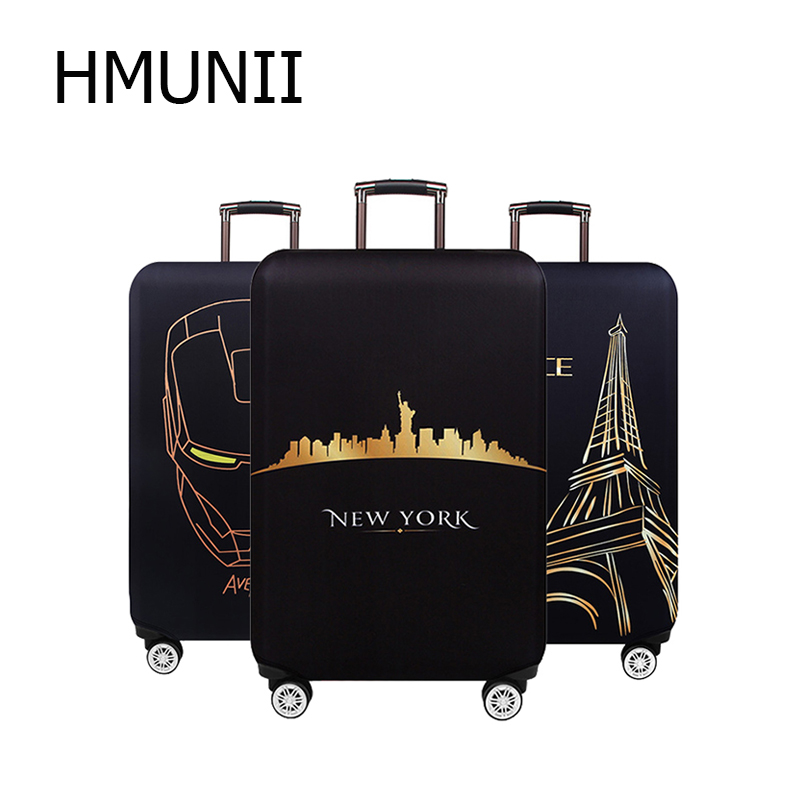 HMUNII Fashion Travel Accessories Luggage Cover Case For A Suitcase Protection Dust Cover Stretch Suitcase Cover Bag S/M/L/XL