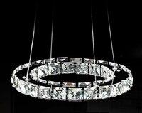 Promoção 40 cm Raimond Anel de Cristal iluminação Lustre de Luxo Led Round 1 Camada de Cristal Luminária para casa Frete grátis