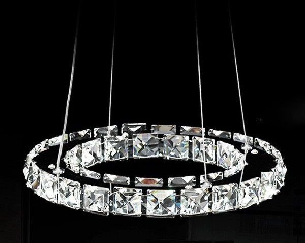 Promotion 40cm Raimond Ring Crystal Chandelier Lighting Deluxe Led Round 1 Layer Pendant Lamp For