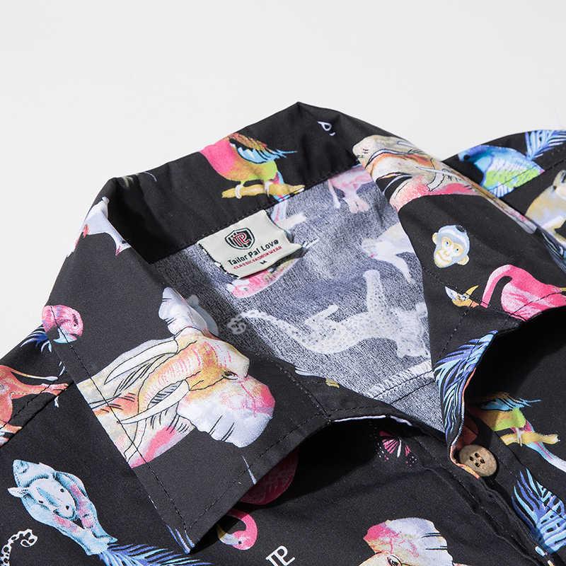 Азиатский размер 5XL уличная сёрфинговая пляжная рубашка мужская гавайская рубашка Пляжная мода для отдыха Цветочная рубашка тропическая Приморская гавайская рубашка