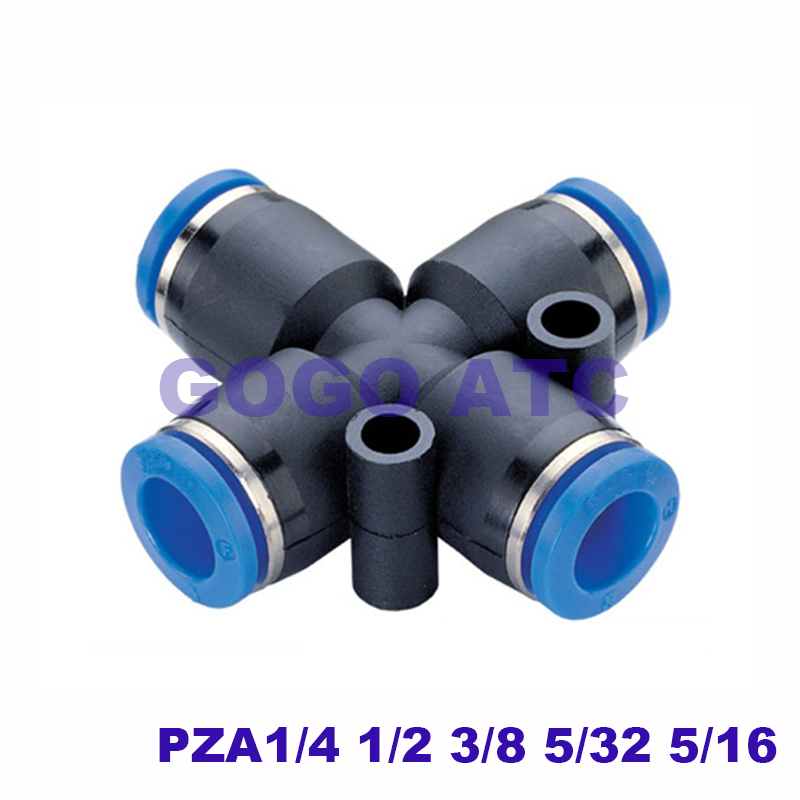 """1//2/"""" air tube air tube /""""T/"""" fitting 1 in 2 out 3way pneumatic splice union 12mm"""