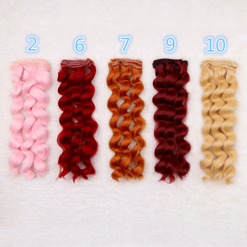 1 Pcs Thick 25cm*100cm Wigs BJD Ye Luoli SD DIY Doll Wigs High-temperature Wire Fiber Hair Curly Wave Hair Wigs