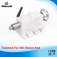 CNC Tailstock 4 Axis MT2 Rotary Axis Lathe Wood Router Chuck