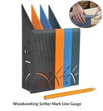 Carpintaria scriber marca linha calibre pinça régua carpenter plásticos ferramenta de medição 215*72*64mm dropshipping