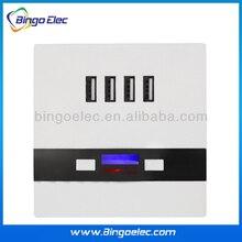 4 USB Зарядка Розетке Ввода AC85-265 В/Выход 5 В 3А, розетки с четырьмя Usb зарядка порта Горячей продажи